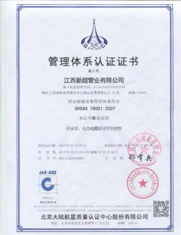 管理体系认证证书 (3)
